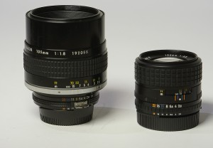 The 105mm f/1.8 Nikkor and the 100mm f/2.8 Series E...I love them both, but for different reasons!