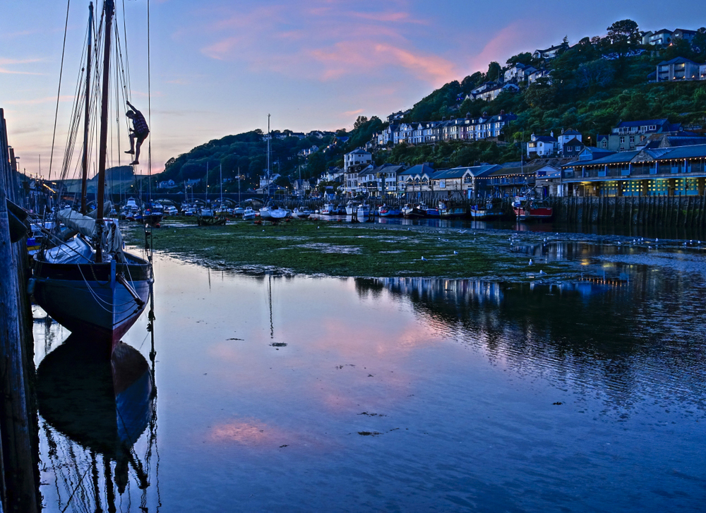 A sailor checks the rigging one last time at the end of the day in West Looe, Cornwall. Photo © Bob Krist with Sony RX100iii