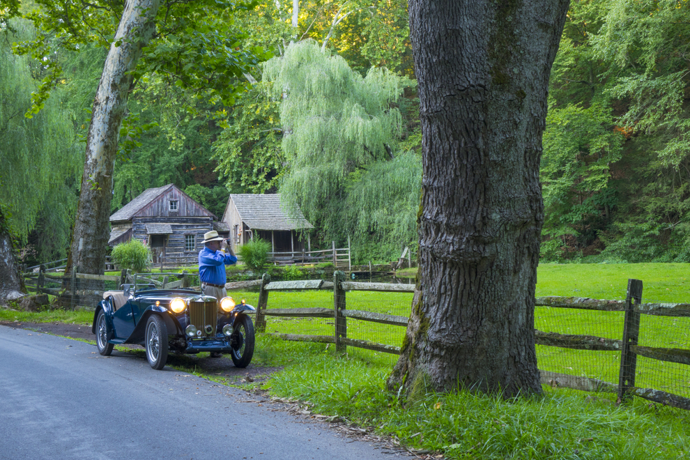 Out for an evening drive in Bucks County, looking for pictures with my pal Reid in his vintage MG....it's all good! Photo © Bob Krist, RX10ii